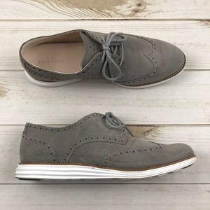<Cole Haan> Lunargrand Suede Oxford Shoes 9.5B